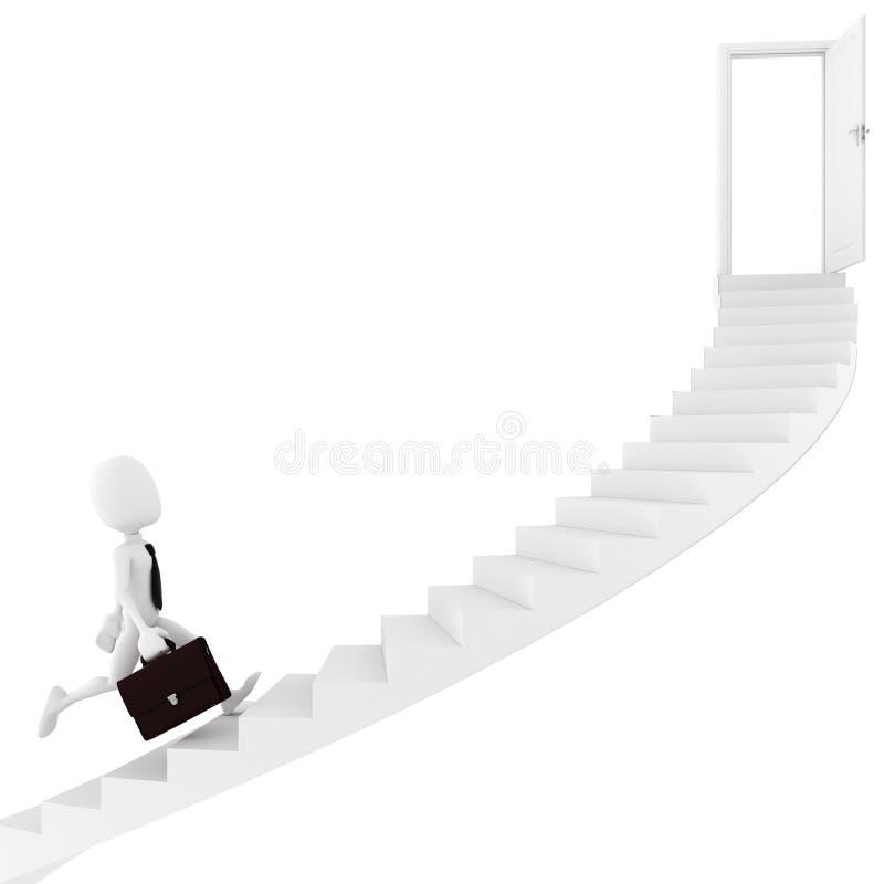 3d查找人连续台阶的退出 皇族释放例证