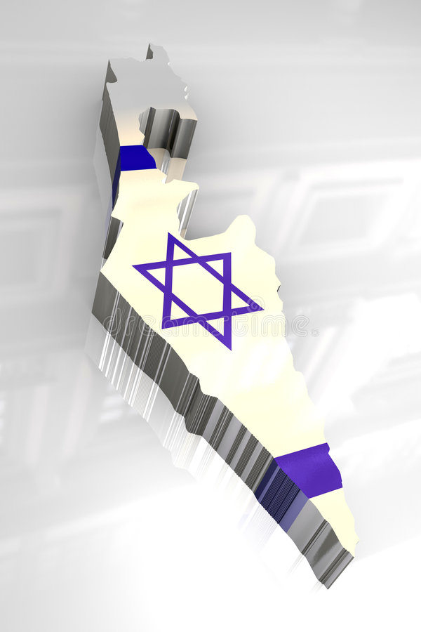 3d标志以色列映射 向量例证