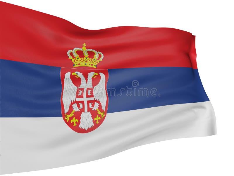 3d标志塞尔维亚人 向量例证