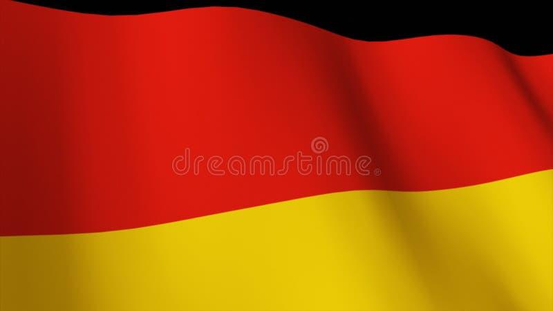 3d标志德语回报 库存例证