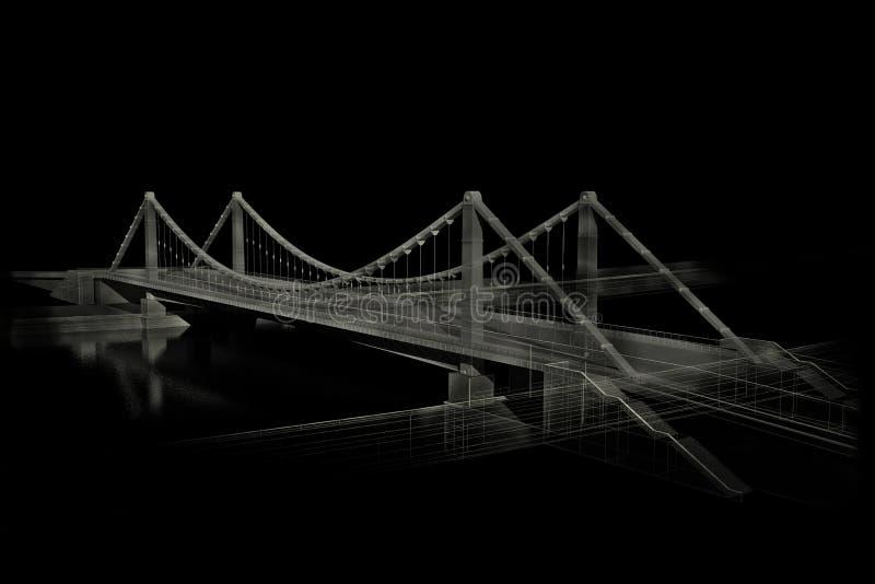 3d桥梁 库存例证