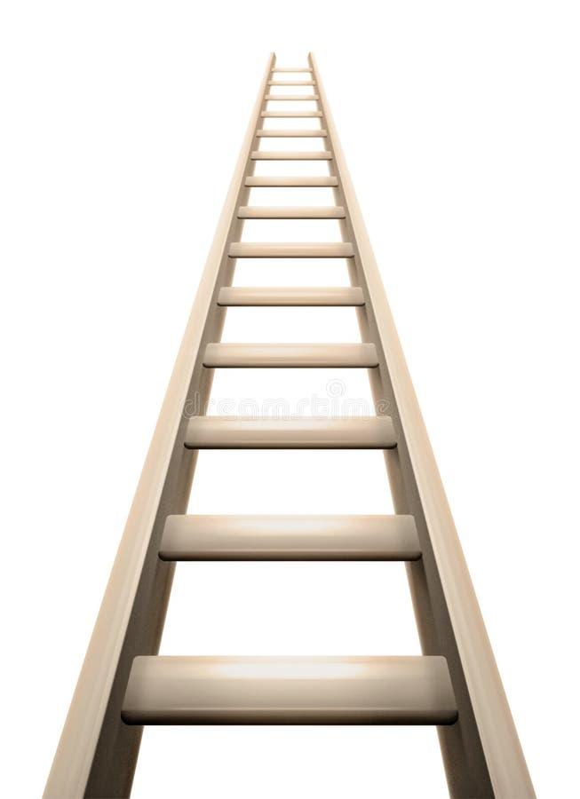 3d梯子成功象征的木头 向量例证