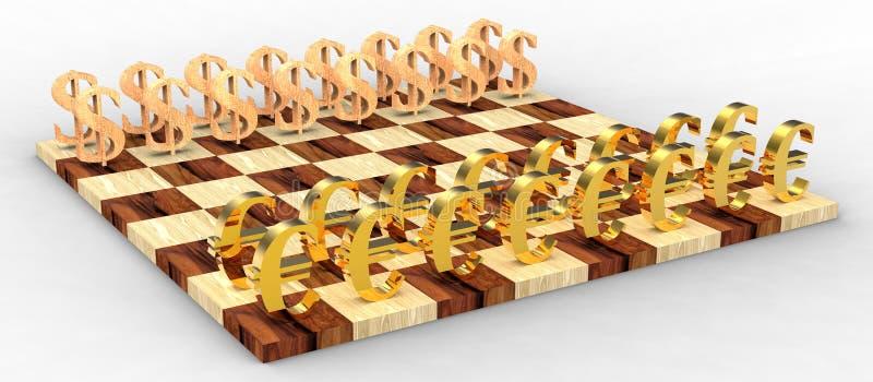 3d棋 向量例证