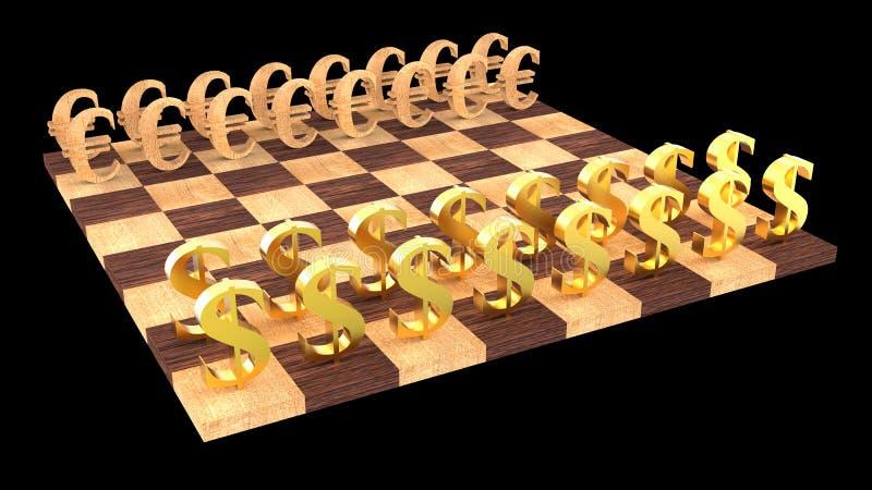 3d棋 库存例证