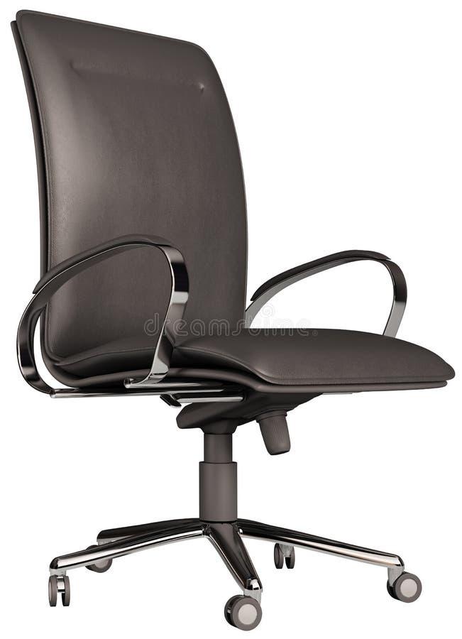 3d椅子在白色的查出的办公室 库存例证