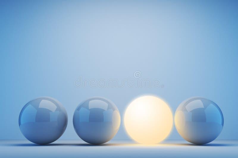 3d概念创新光亮范围 皇族释放例证