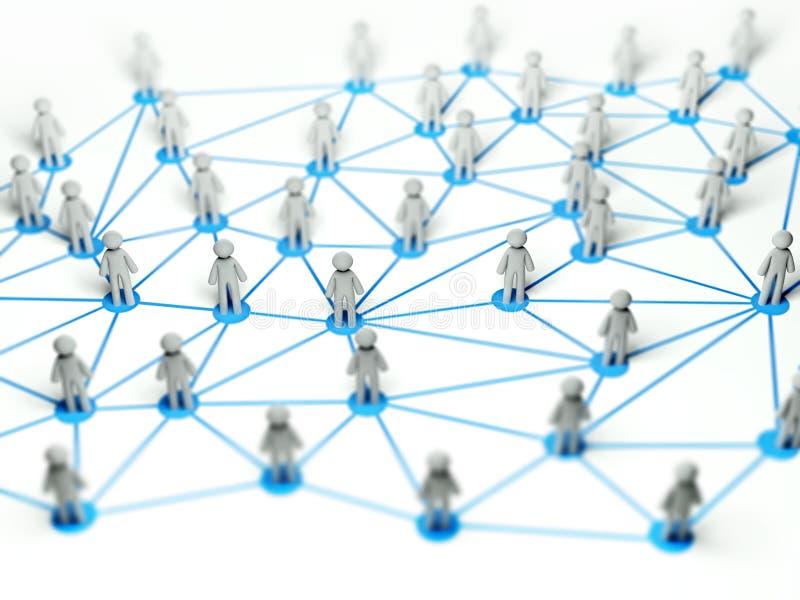 3d概念连接数例证网络社交 库存例证