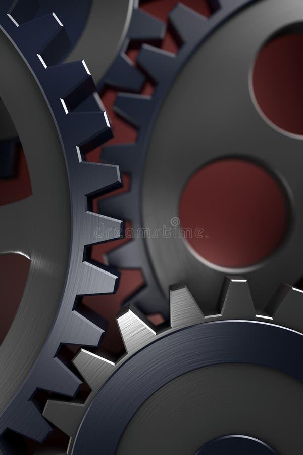 3d概念连接数齿轮 库存例证