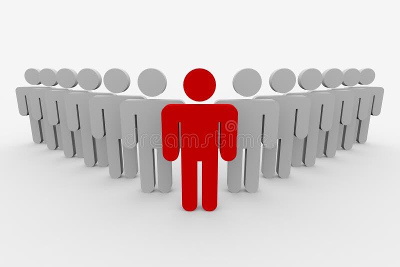 3d概念领导先锋人小组 向量例证