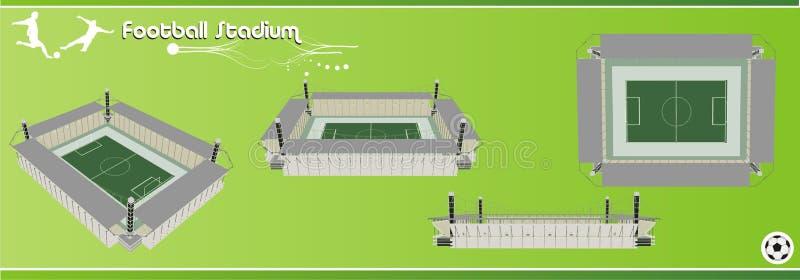 3d橄榄球场向量 向量例证