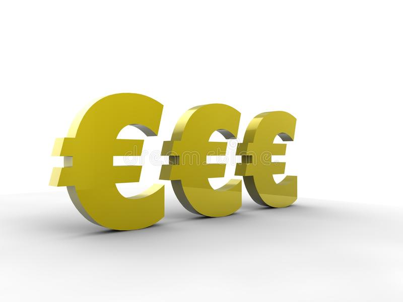 3d欧元符号 库存照片