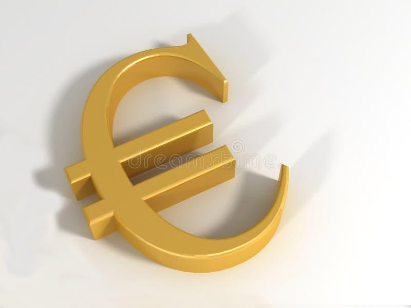 3d欧元 免版税库存照片