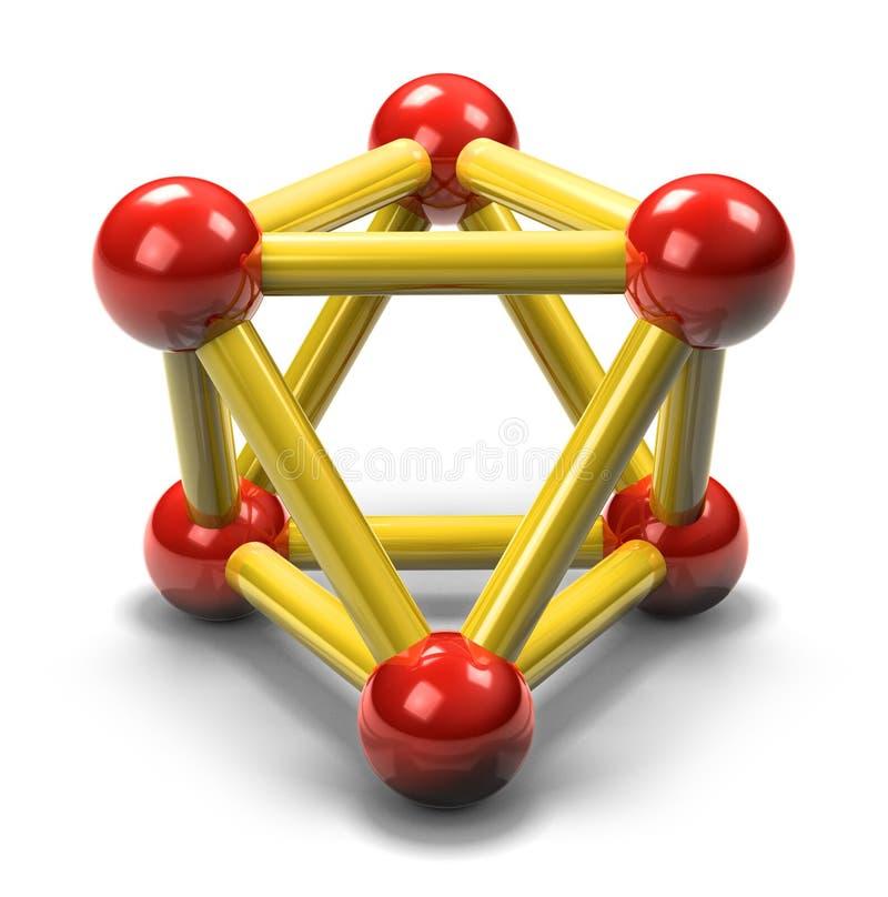 3d氢核 皇族释放例证