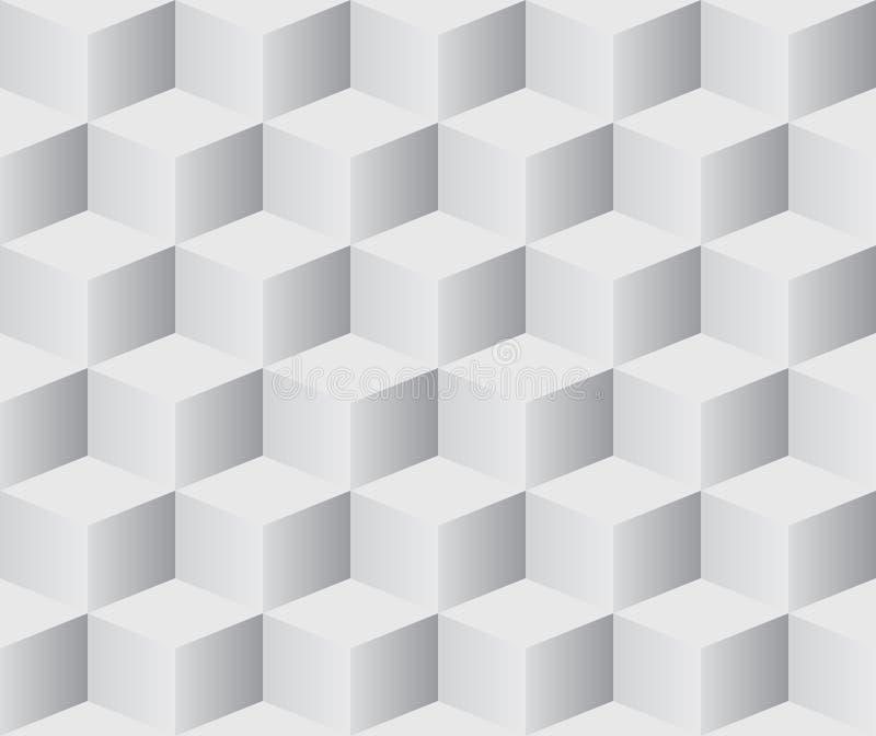 3d求无缝的白色的立方 皇族释放例证