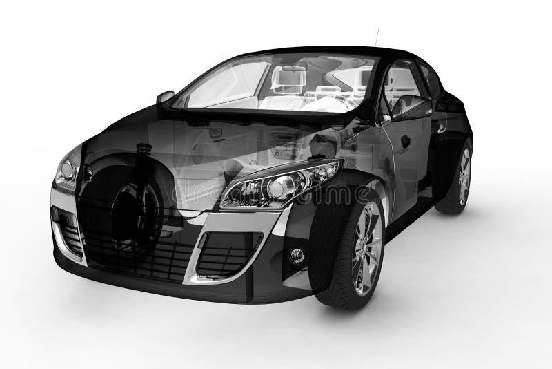 3d汽车设计 皇族释放例证