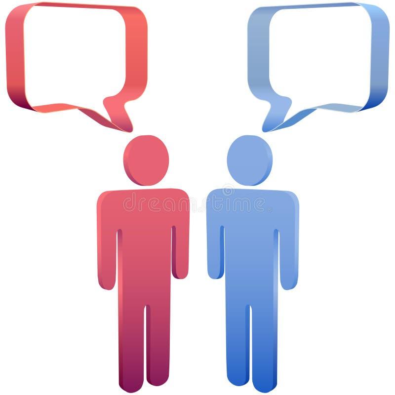 3d泡影媒体人社会演讲谈话 库存例证