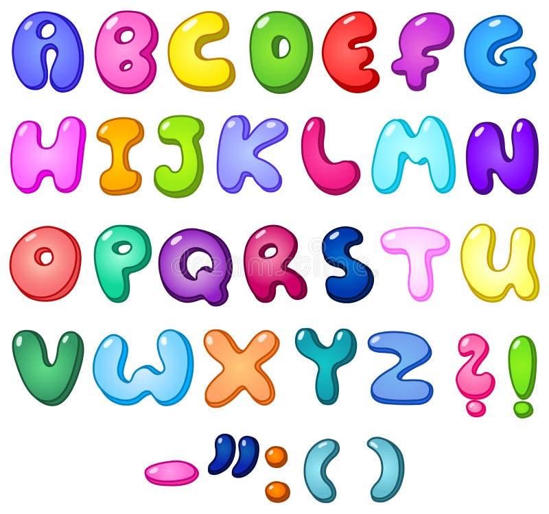 3d泡影字母表 库存例证