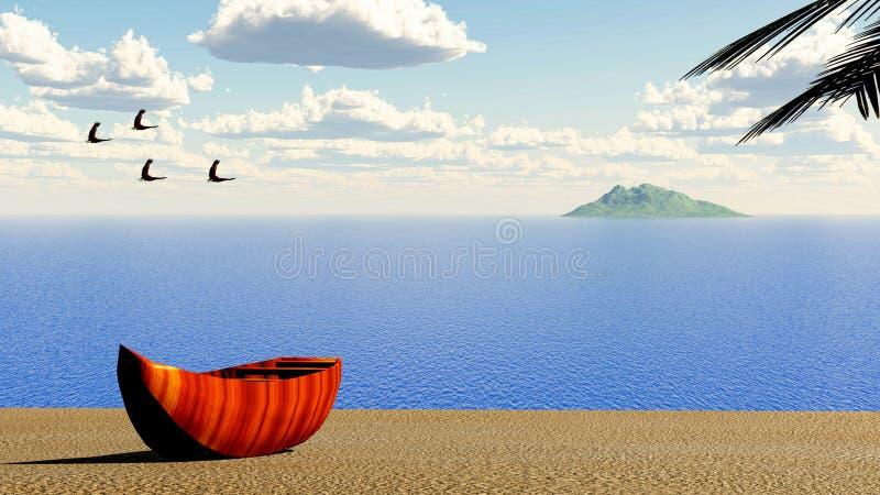 3d海滩 库存图片
