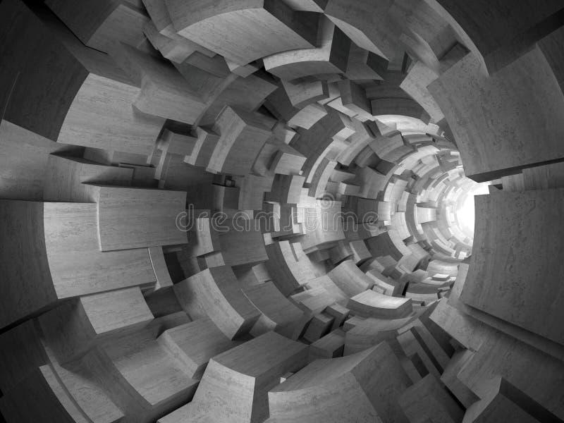 3d混凝土隧道 库存例证