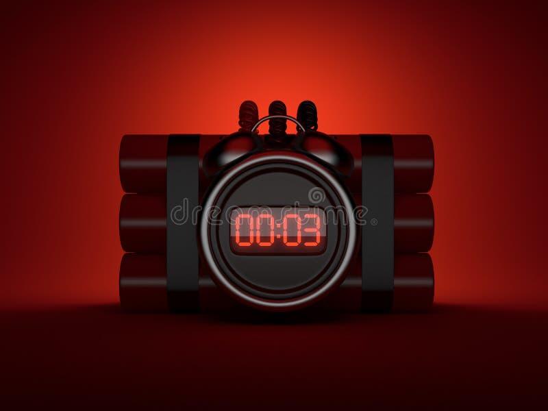 3d炸弹时钟读秒定时器 皇族释放例证