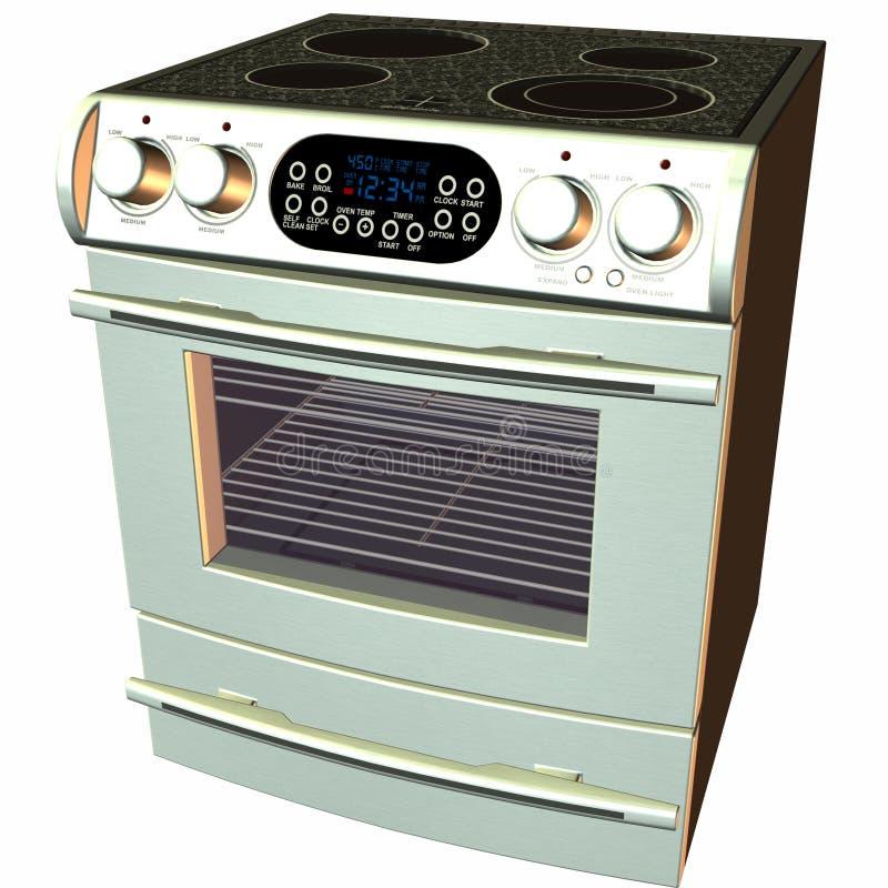 3d烘烤烤箱火炉 皇族释放例证