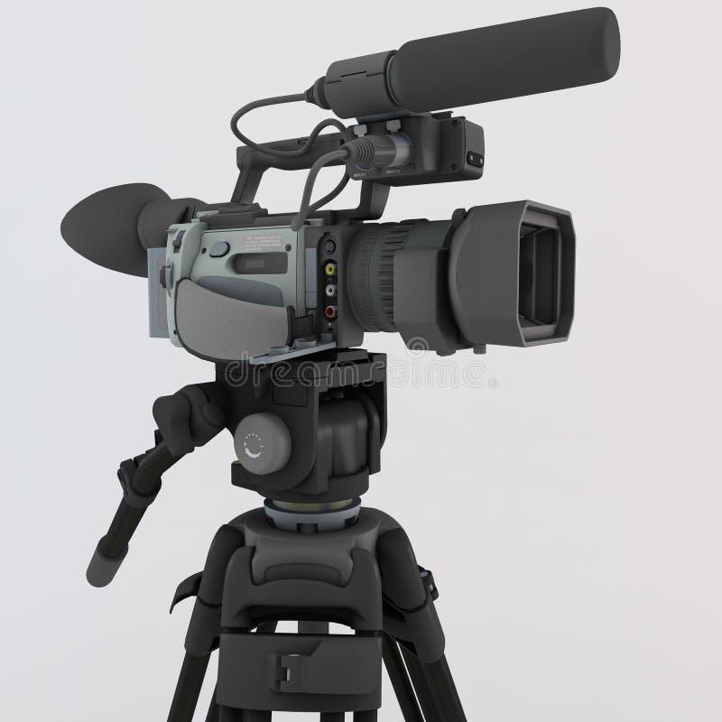 3d照相机使三脚架视频 免版税库存图片