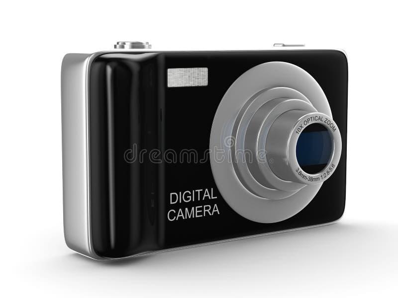 3d照相机协定数字式查出的白色 库存例证