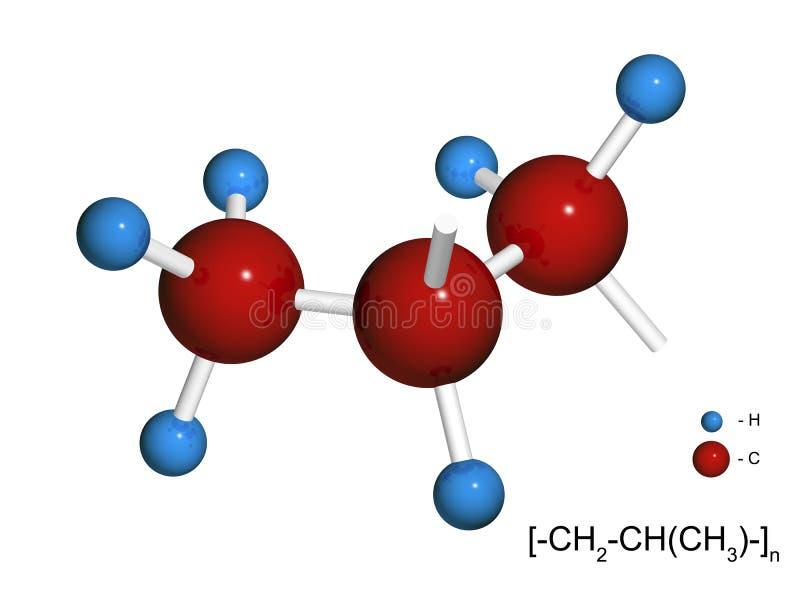 3d片段查出的聚丙烯 向量例证