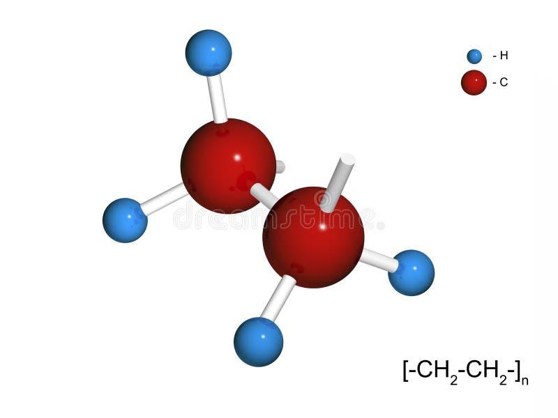 3d片段查出的聚乙烯 向量例证