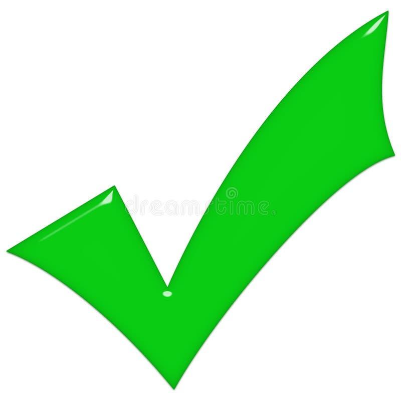 3d玻璃绿色滴答声 库存例证