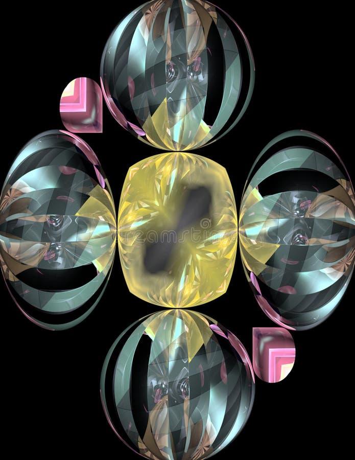 3d珠宝反射 向量例证