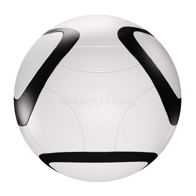 3d球查出在足球白色 皇族释放例证