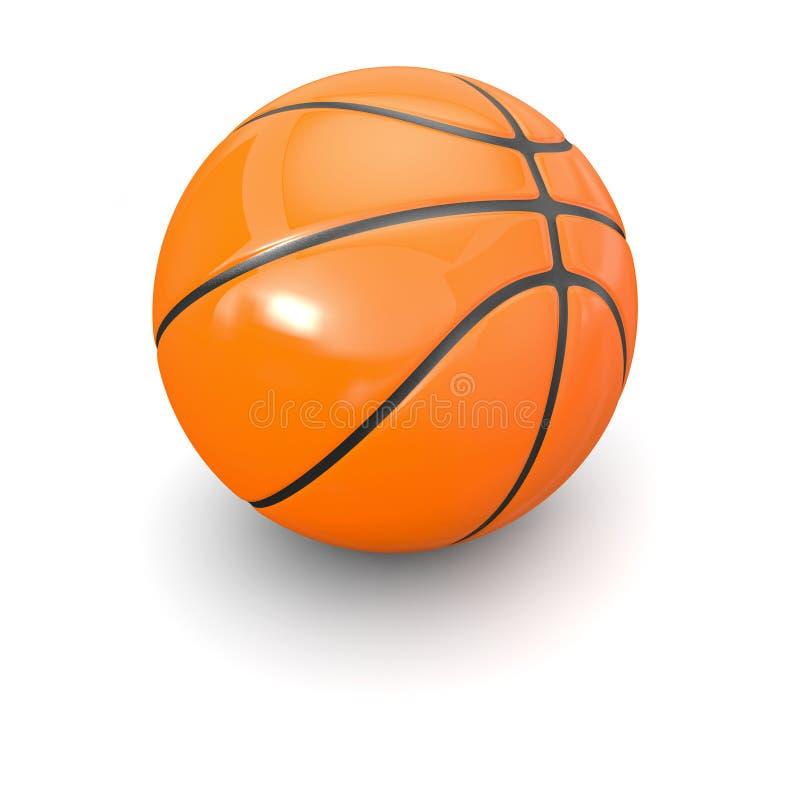 3d球篮子 向量例证