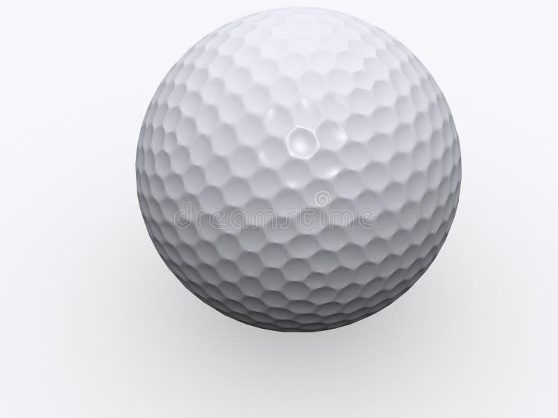 3d球高尔夫球查出 库存例证
