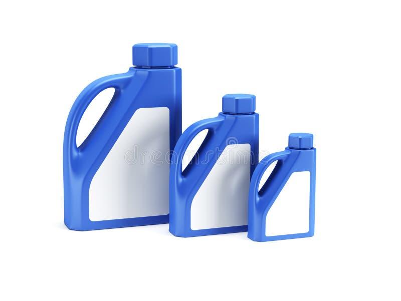 3d瓶查出的机油回报 皇族释放例证