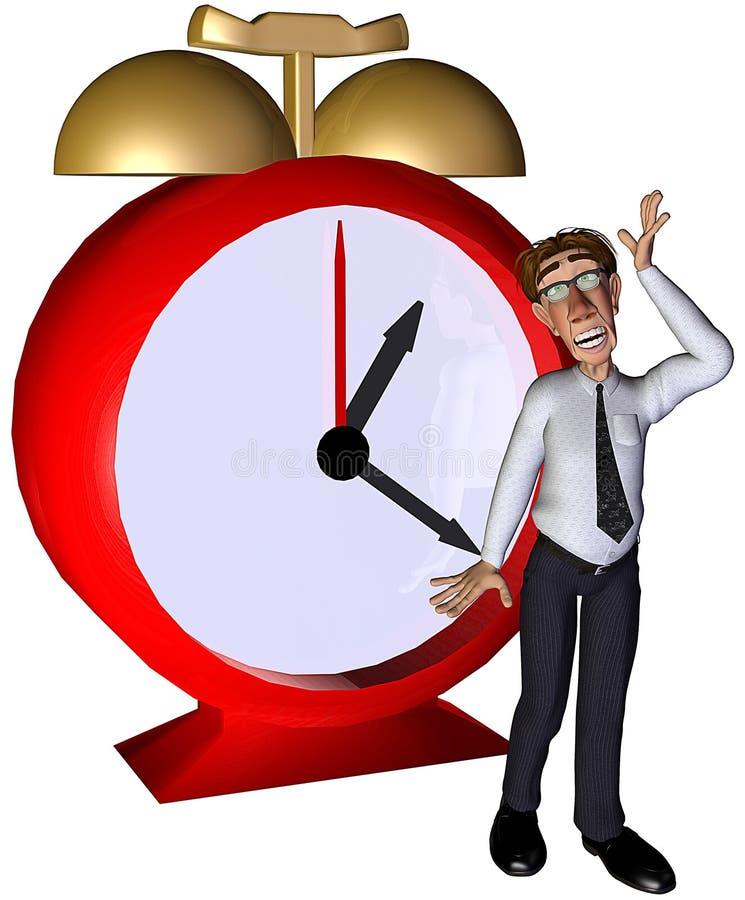 3d生意人失去的时间 库存例证