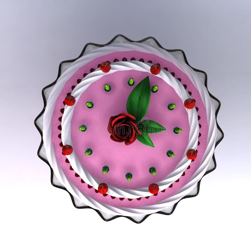 3d生日蛋糕回报婚礼 皇族释放例证