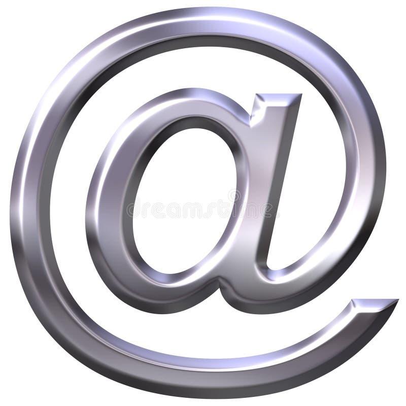 3d电子邮件银符号 皇族释放例证