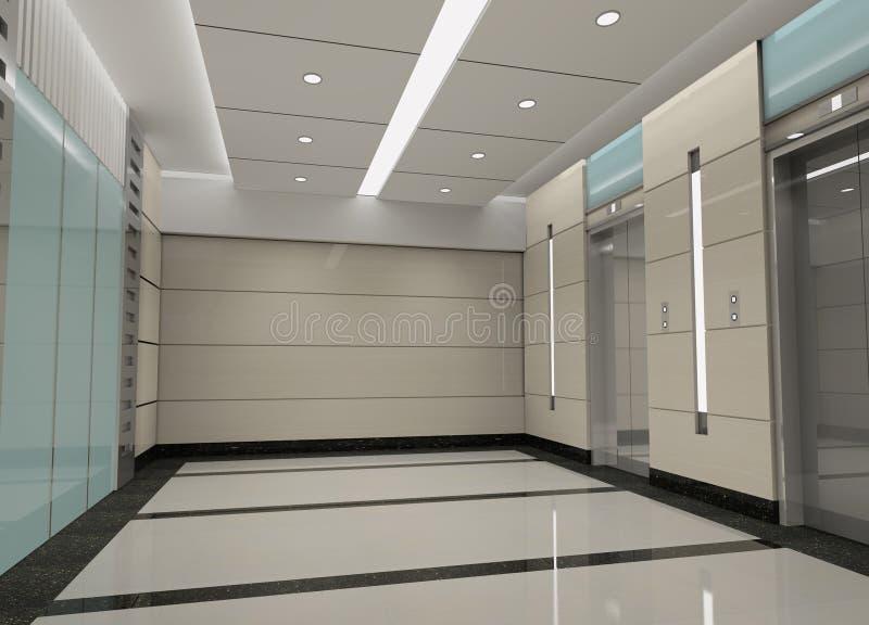 3d电梯大厅翻译 库存例证