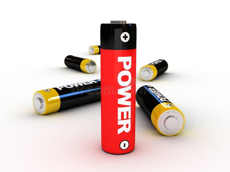 3d电池 库存例证