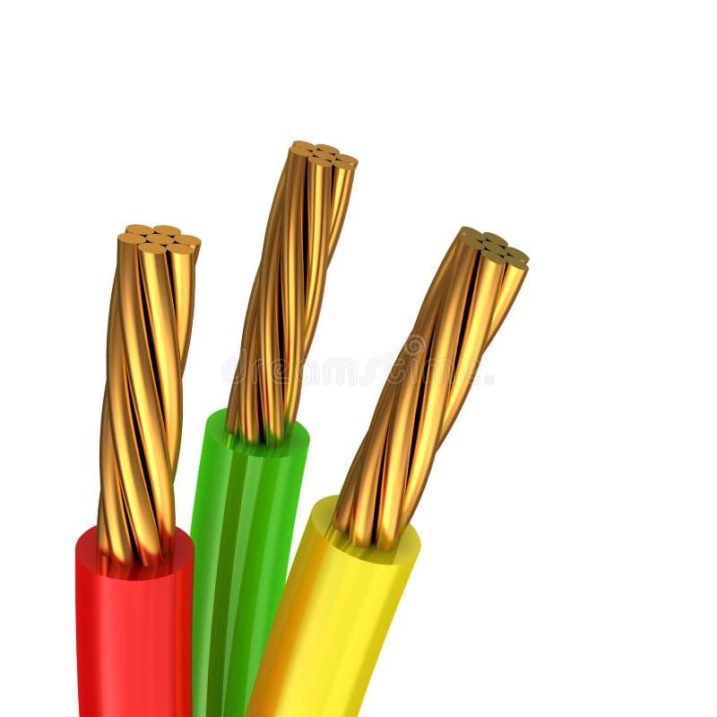 3d电缆例证 皇族释放例证