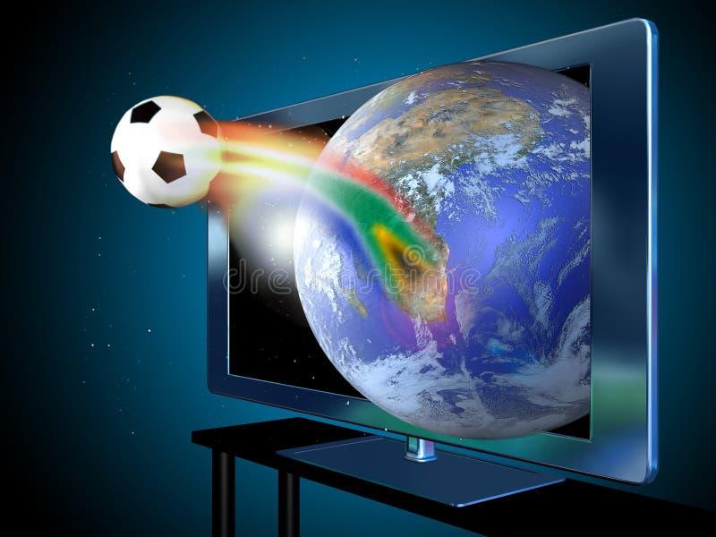 3d电视 向量例证