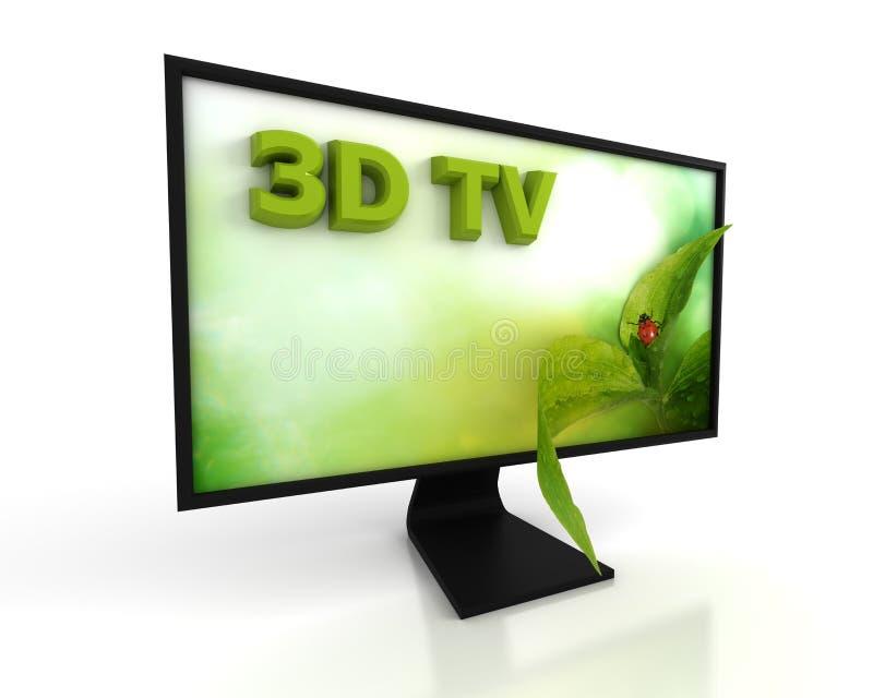 3d电视 库存例证