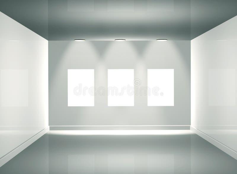 3d画廊照片 向量例证
