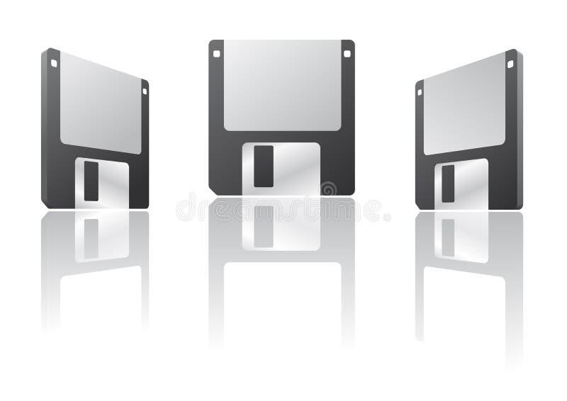 3d盘磁盘 皇族释放例证