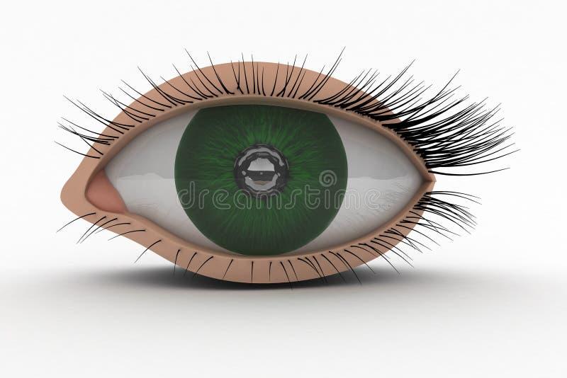 3d眼睛图标 向量例证