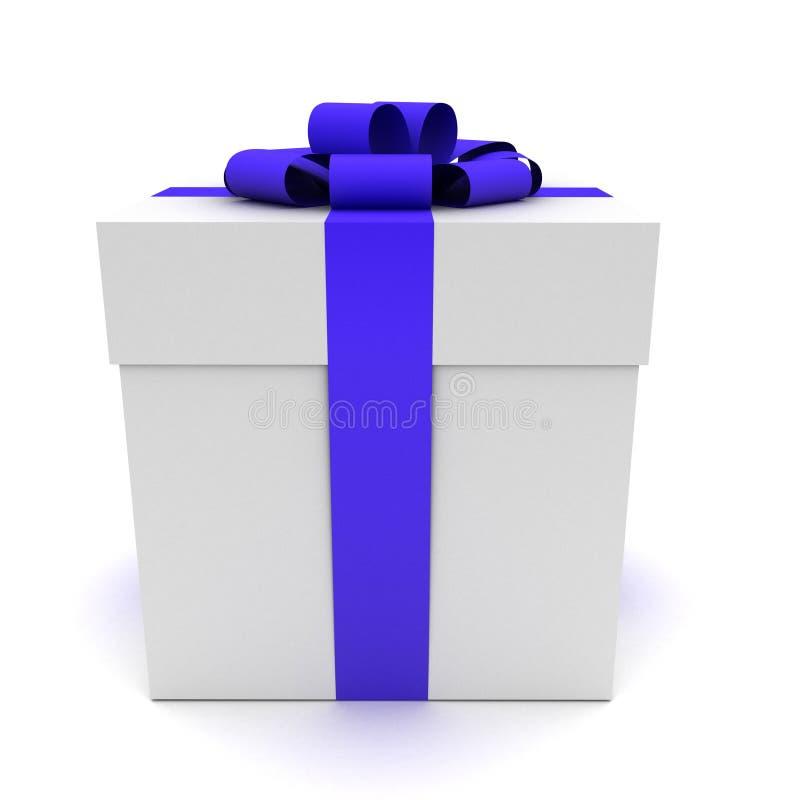 3d礼品查出的白色 向量例证