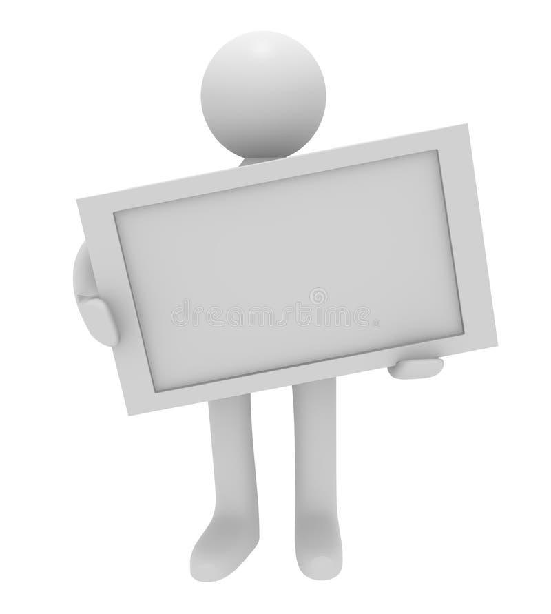 3d空白人符号 库存例证