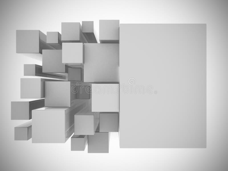 3d空白抽象背景 库存例证