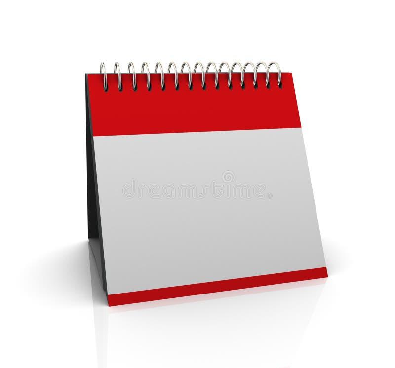 3d空白日历 向量例证